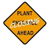 plant closing ahead